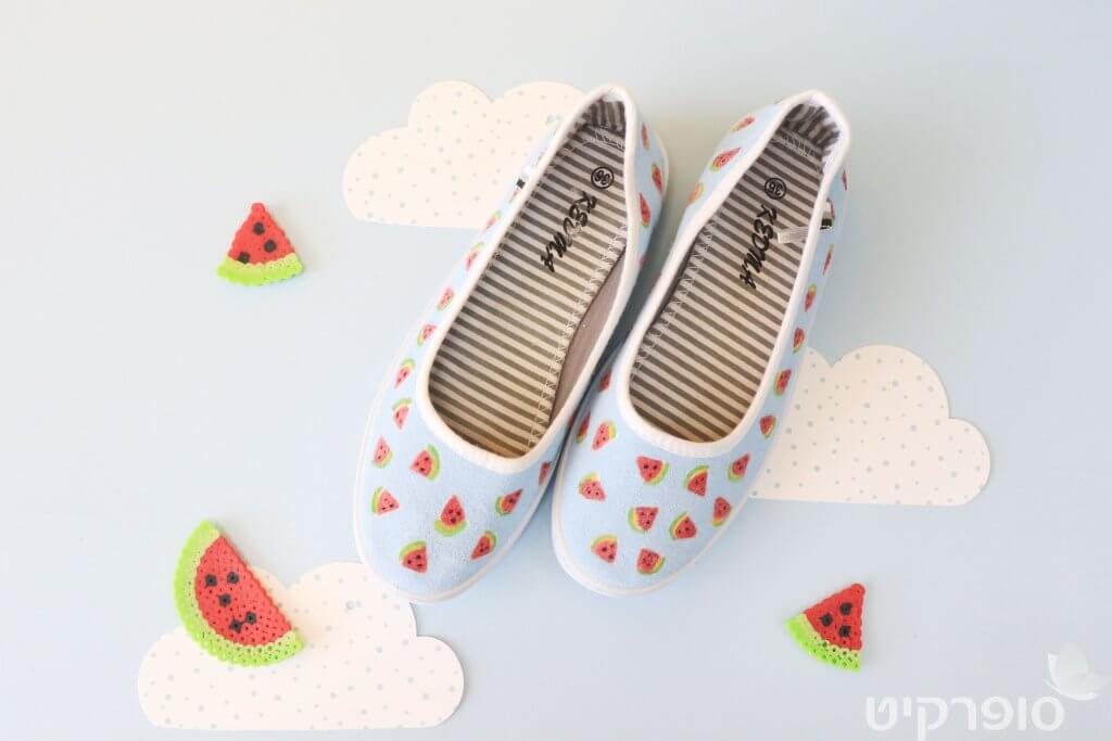 DIY נעליים מעוצבות