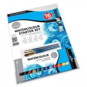 סט צבעי מים 16 חלקים