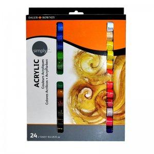 סט צבעי אקריליק (24 גוונים)