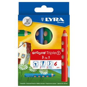 עפרון צבעוני עבה במיוחד לאחיזה נכונה