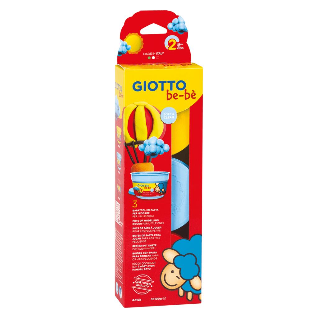 בצק משחק לילדים 3 גוונים (צהוב, כחול, אדום)
